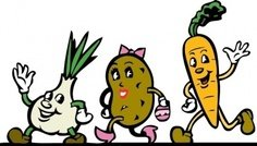 cartoon,veggie,running