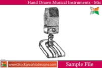 hand,drawn,musical,instrument,mic