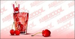 cherry,cold,drink,taste,vector,material