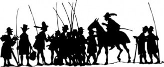 people,group,going,fish,men,fishing,pol,horse,silhouette