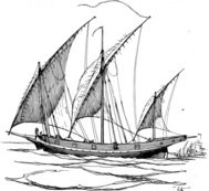 lateen,sail,maritime,sailing,ship,sailship,drawing,line art,wikimedi common,black and white,contour,outline,media,clip art,externalsource,public domain,image,png,svg,wikimedi common,psf,wikimedi common