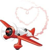 plane,sending,love,message,heart,shaped,smoke,emitting,material
