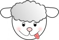 smiling,sheep,animal,media,clip art,public domain,image,svg,png