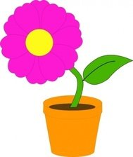 flowerandpot,plant,flower,cartoon