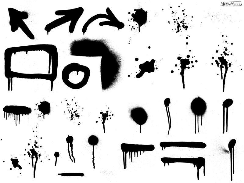 Drips and Spray Paint clip arts, free clipart - ClipartLogo com
