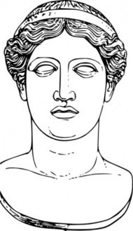 hera,head,ancient,greek,mythology,deity,goddess,statue,drawing,line art,juno,meyers,famous-people,media,clip art,externalsource,public domain,image,png,svg,wikimedia common