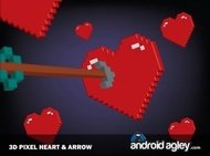 pixel,heart,arrow,love,3d,pixelated