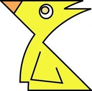 chick,pollo,ave,dibujos animados,temporada,primavera,color,amarillo