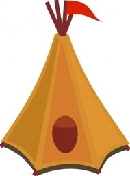 cartoon,tipi,tent,flag,rpg,rtciv,game,game media,yellow,skin,hide,indian,play,toy,red,media,clip art,public domain,image,png,svg