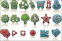 leaf,green,flag,drop,windmill,icon