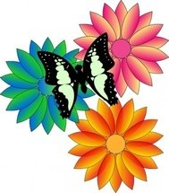 butterfly,flower,scene,nature,media,clip art,public domain,image,png,svg