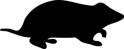 Image result for vole silhouette