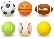 football,basketball,rugby,tennis,baseball,volleyball,vector,material