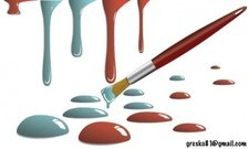 paint,drop,illustration,3d,drop,red,blue,brush,paint brush,paintbrush,splatter,spill,painting