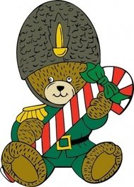 christmas,guard,bear