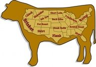 meat,prime,cut,colour,outline,food,map,usa,satire,state,joint,butcher,cow,beef,diagram
