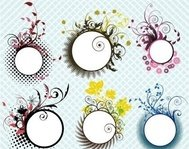 floral,frame,flower,pattern,element,leaf,nature,abstract,illustration,circle,flame,flower,design,element,circle,flame