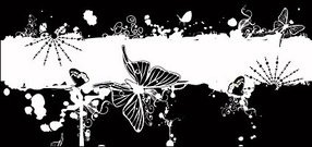 butterfly,fashion,pattern,material,grunge,splat,element,black,white,circle,swirl