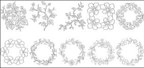 flower,type,line,drawing,vector,diagram