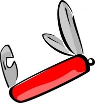 swiss,army,knife,colour,contour,red,cartoon,outline,line art