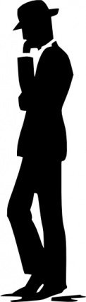 walking,talking,cell,phone,silhouette,clip