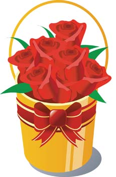 bucket of rose flower clip arts free clipart