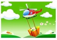 helicopter,with,present