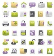 green,magenta,web,icon,set