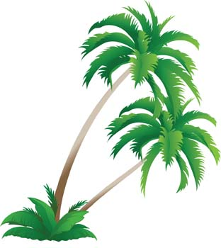 Palm tree 4 clip arts, free clipart  ClipartLogo.com