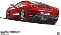 ferrari,illustration,transport,red,car,vehicle,automobile,red car,illustrated,sport,exotic,f430,italy,auto,mobile,auto-show,chinese,color,commercial,display,driving,elegant,engine,expensive,modern,motor,new,race,rally,shiny,show,speed,style,animals,backgrounds & banners,buildings,christmas,fantasy