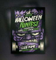 flyer,frankenstein,halloween,trick or treat,flyer template