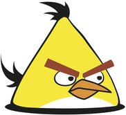 angry bird,yellow,bird,cartoon,character,game,video game