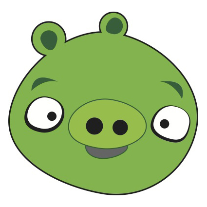 angry bird pig template - angry birds pig vector clip arts free clip art