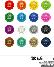 button,color,music,musical,music vector,music icon,music note