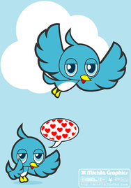 bird,blue,blue bird,twitter,twitter bird,bird cartoon