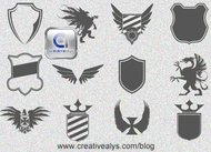 heraldic element,logo design element,vector heraldic element,shield vector,logo design vector