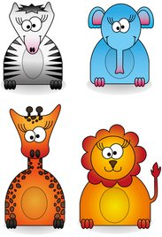 animal,elephant,giraffe,lion,zebra,zoo,animal cartoon