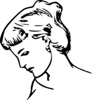 female,profile,drawing