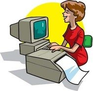office,woman,printing,her,report