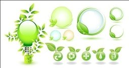 green,leaf,icon,theme,environmentally,friendly,material