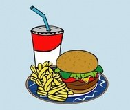 fries,burger,soda,fast,food