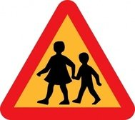 child,parent,crossing,road,sign