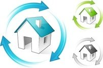 recycle,arrow,around,house