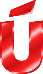 ú in effect letters alphabet red
