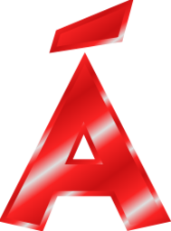 á in effect letters alphabet red