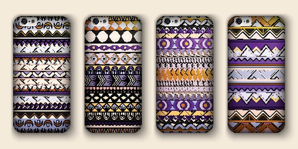 set of four covers for your mobile phone.