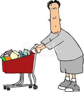 Man with a shopping cart