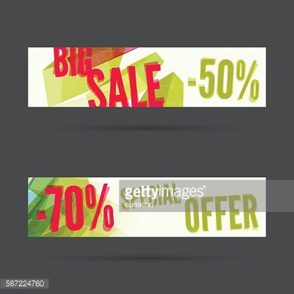Set of discount banners