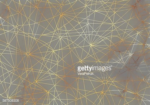 Abstract gray background with golden shining lines