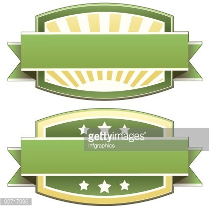 Blank food or product label Clipart Image